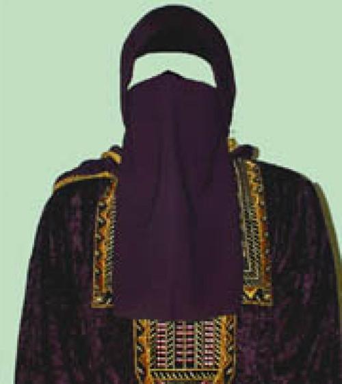 Georgette Half-Niqab  ni101