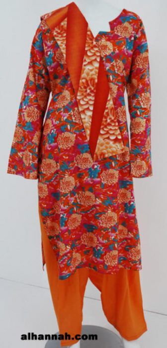 Marigold Print 100% Cotton Salwar Kameez sk1068