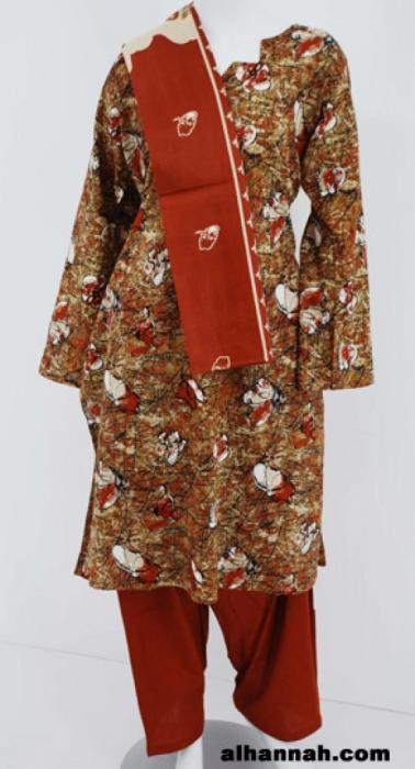 Floral Print Cotton Salwar Kameez sk1175