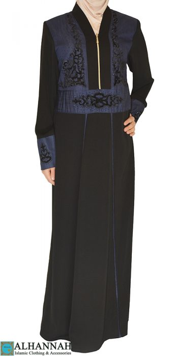 Abaya pull over with zipper
