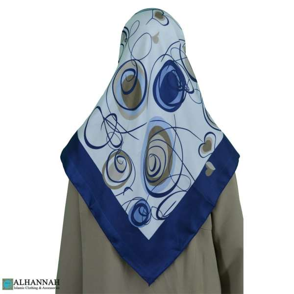Contemporary Swirls Turkish Satin Hijab hi2082