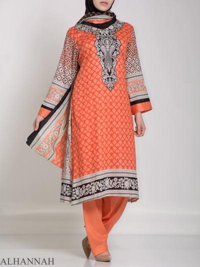 Ibtihaj Salwar Kameez - Premium Lawn Cotton sk1218 (2)