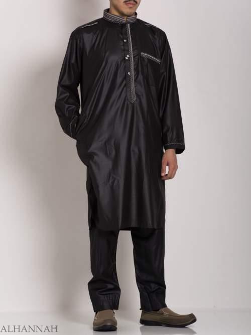 Mens Black Salwar Kameez Set me688 (3)