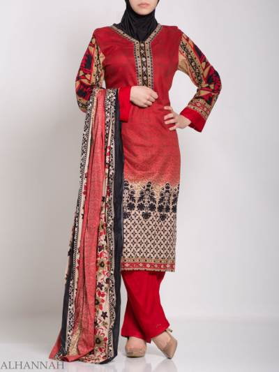 Ruwaydah Salwar Kameez - Premium césped algodón sk1234 (2)