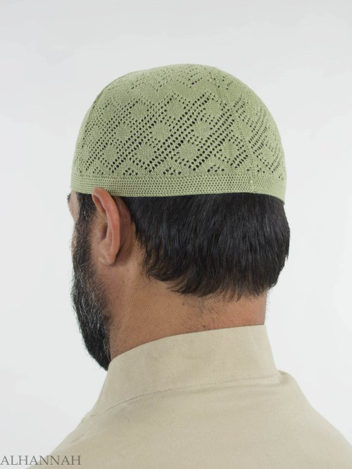 Traditional Knitted Cotton Kufi me674 (4)