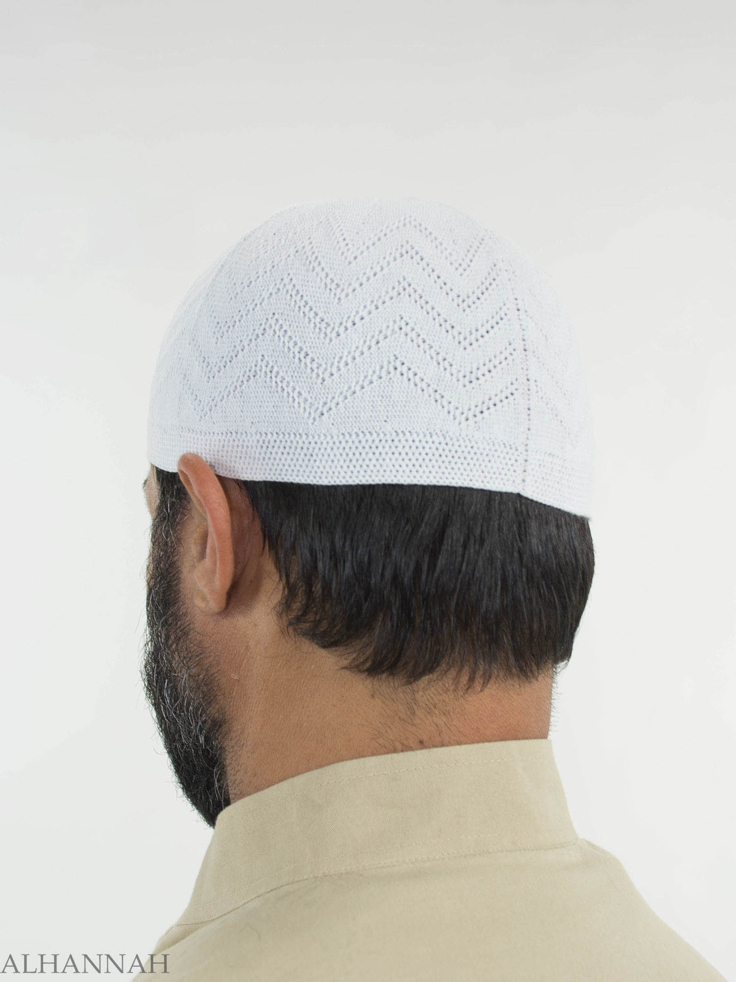 Kufi de algodón tradicional de punto me674 - Alhannah ropa islámica