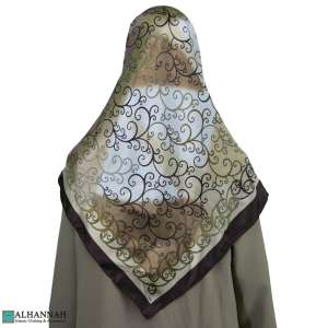 Traditional Turkish Satin Hijab hi2085