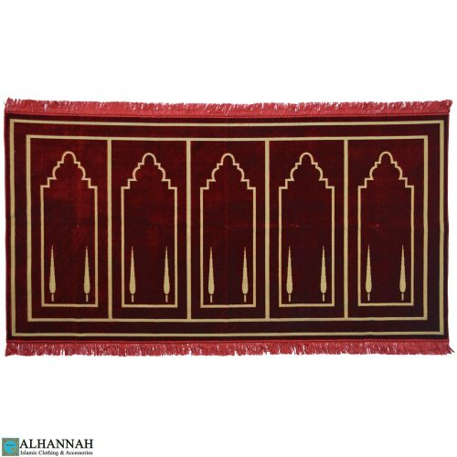 prayer rug 5 person red Turkish ii1122