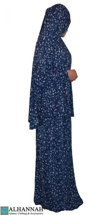 Prayer Outfit 2 piece blue floral