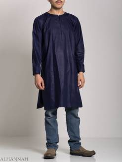 Men's Solid Color Kurta Shirt with Button up Front - Soft Cotton ME718 (6)