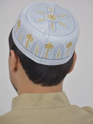Arco dorado bordado Taqiya Kufi | ME733