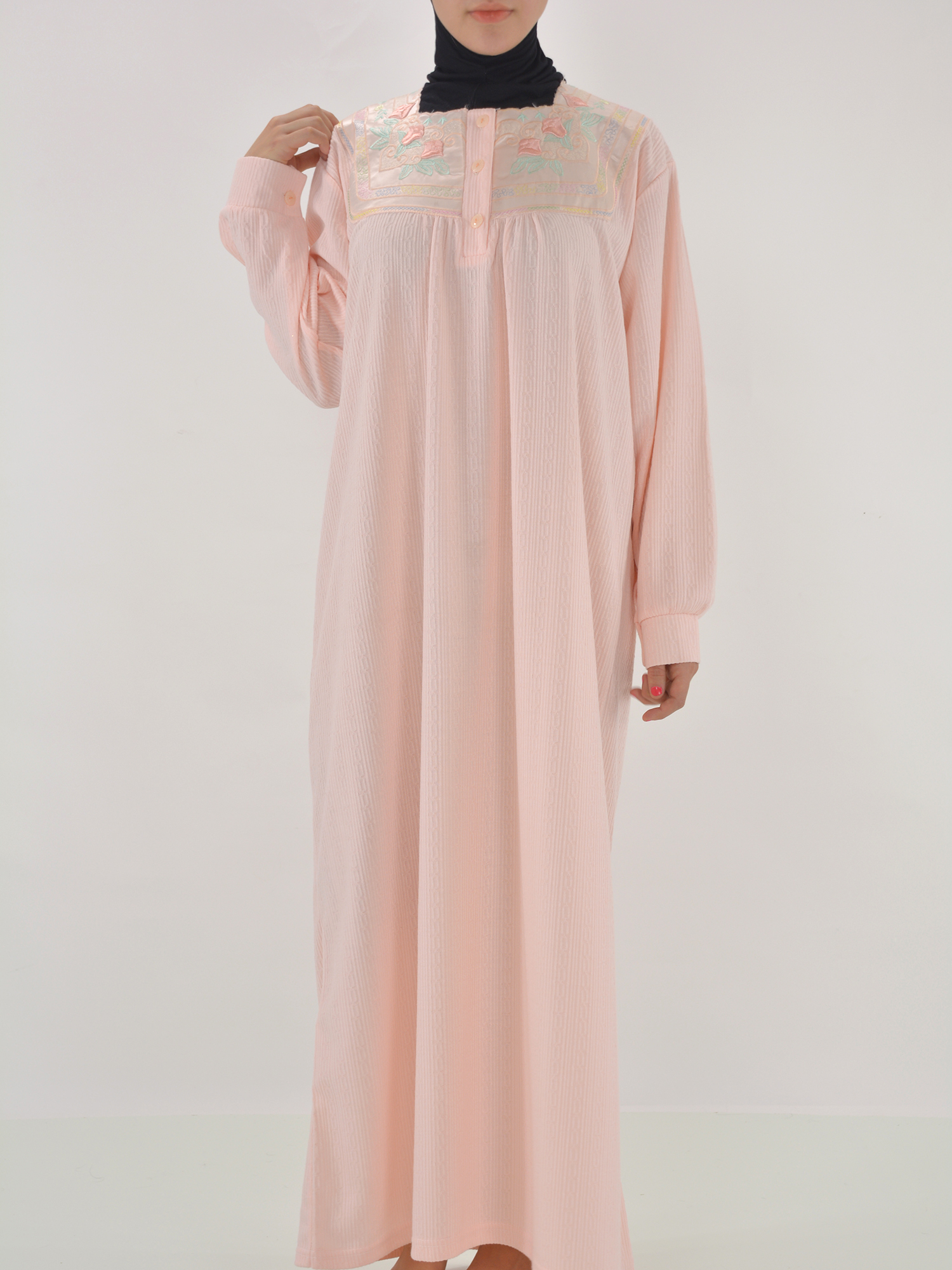Daffodil Embroidered Cotton Nightgown | NG103 -