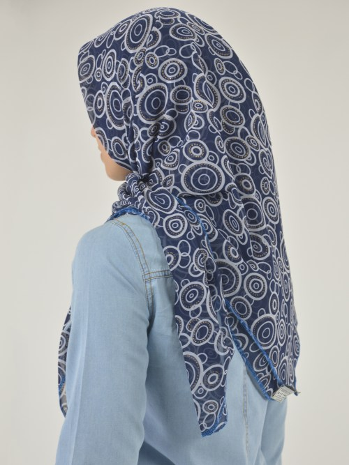 Radiating Glitter Circles Square Hijab HI2119 (7)