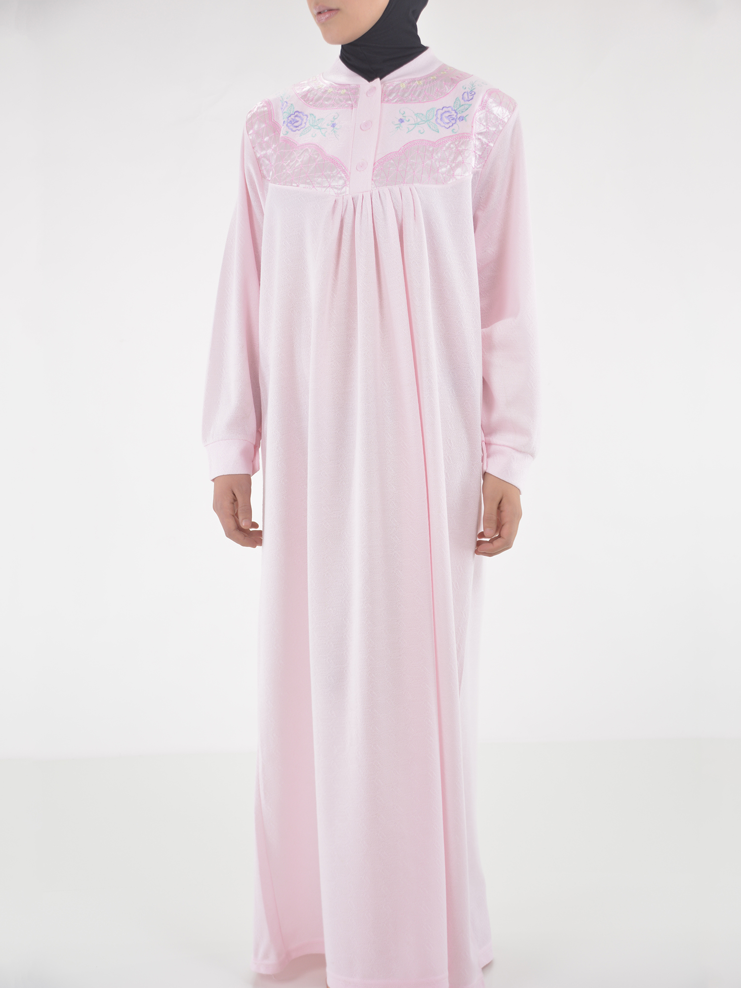 Rose Embroidered Cotton Nightgown | NG102 -