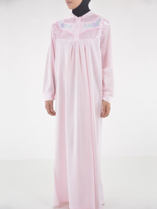 Rose Embroidered Cotton Nightgown NG102 (3)