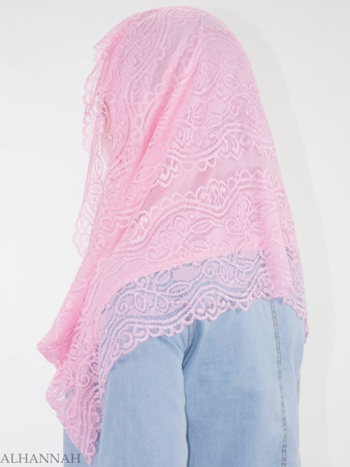 Floral Vines Lace Kuwaiti Wrap Hijab HI2143 (5)