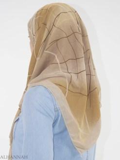 Striped Glitter Infused Square Hijab HI2148 (2)