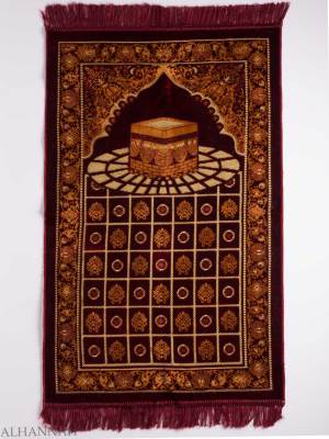 Turkish Prayer Rug Checkered Arched Kaaba Motif ii1133