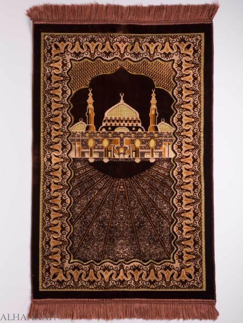 Turkish Prayer Rug Golden Prophets Mosque Motiff ii1125