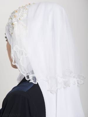 Hijab Nupcial Blanco Perlado hi2154 (3)