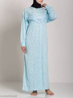 Speckled Dandelion Embroidered Cotton Nightgown NG108 (3)