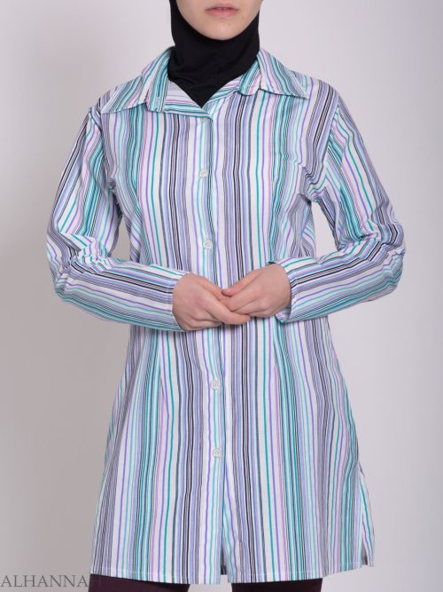 Striped Button Up Tunic st603 (2)