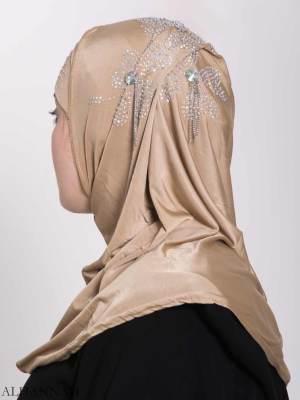 Clover Rhinestone de una pieza Al-Amira Hijab hi2158 (1)