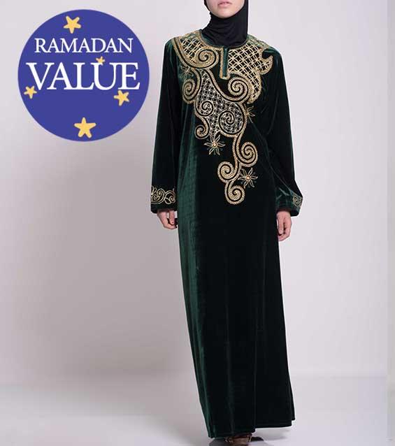 Mujer-Musulmana-Islámica-Vestimenta-Cómoda-thobes-valor-especial-Ramadan-Eid-51818