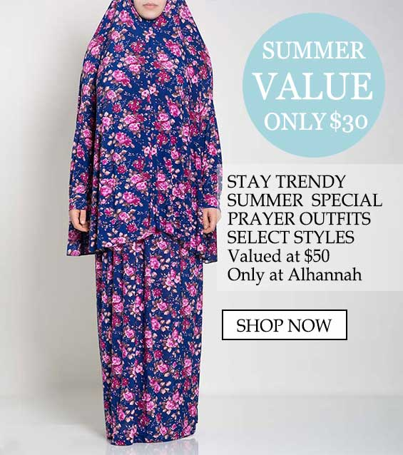 Womens islamic prayer outfits - summer value only $30 stay trendy, summer special prayer outfits select styles valued at $50 only at alhannah shop now