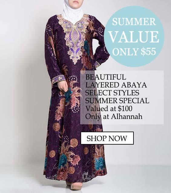 womens muslim islamic clothing abaya summer value 7-3-18