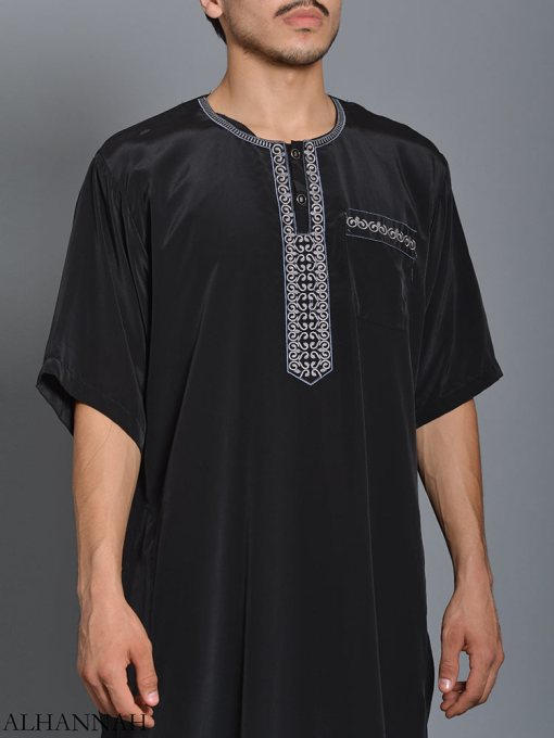 Moroccan Embroidered Thobe me784 (2)