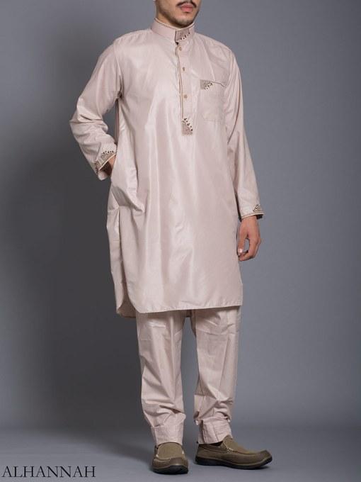 Zari Embroidered Pocketed Salwar Kameez me787 (4)