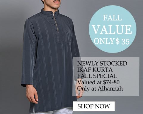 Only $35 Striped Style Special Ikaf Kurta Valued at $78 only at alhannah