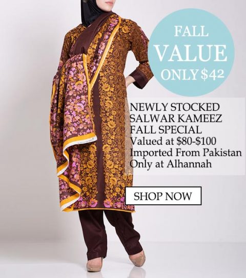 valor de la caída de la ropa islámica musulmana salwar kameez - Salwar kameez recién surtida caída especial, valor en $ 80- $ 100 importado de Pakistán solamente en Alhannah Compre ahora