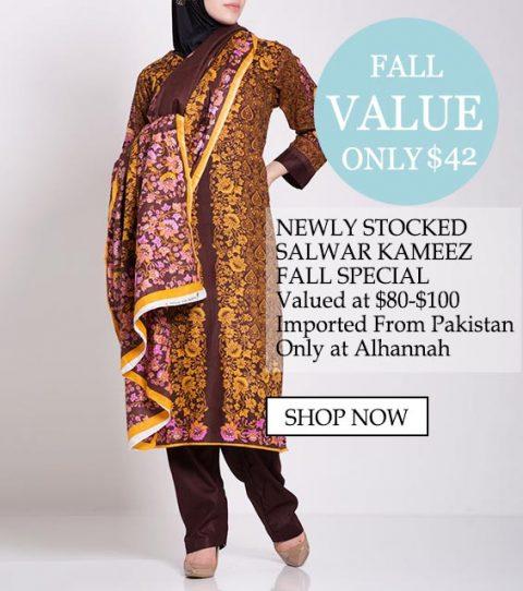 womens musulmano abbigliamento islamico salwar kameez valore di caduta - Newly salwar kameez fall speciale, valore a $ 80- $ 100 Importato dal pakistan solo a Alhannah Acquista ora