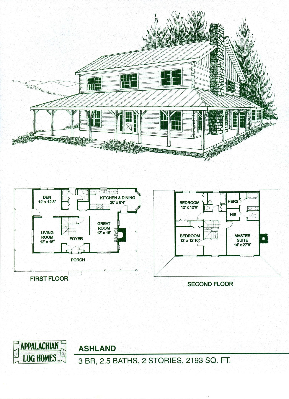 Br Around 2 2 Cabin Floor Log Wrap Ba Porch Plans
