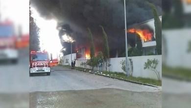 Photo of بنزرت: حريق بمخزن بلاستيك مستعمل ونفايات