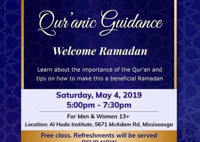 Qur'anic Guidance – Welcome Ramadan