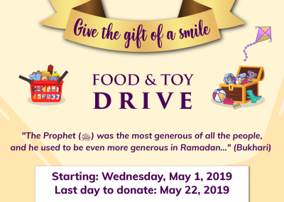 Share the Blessings – Ramadan Food & Toy Drive