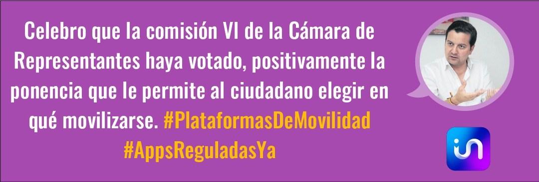 Comunicado No. 26 Avance histórico para la regulación de las plataformas de movilidad en el Congreso de la República