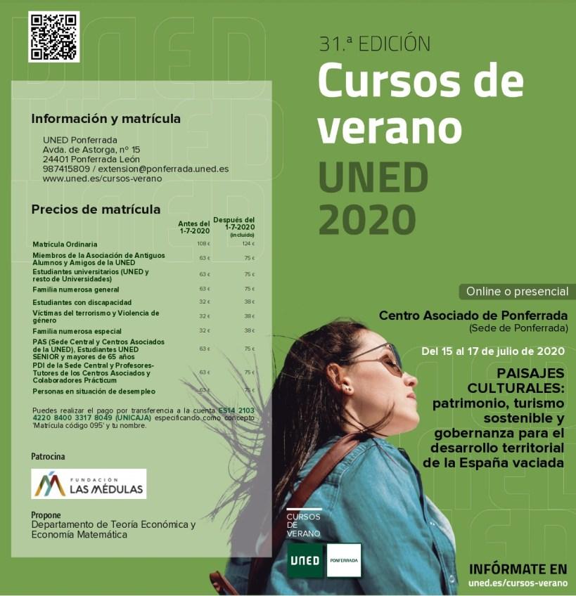 31ª Edición Cursos de Verano UNED: «PAISAJES CULTURALES: patrimonio, turismo sostenible y gobernanza para el desarrollo territorial de la España vaciada»