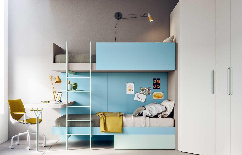 Camerette per bambini e ragazzi con sistemi di letti, armadi, librerie e scrivanie. Aliaprospecto Aliaprospecto Arredamenti Una Cameretta Salvaspazio