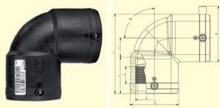 Elektrofuziono koleno W90