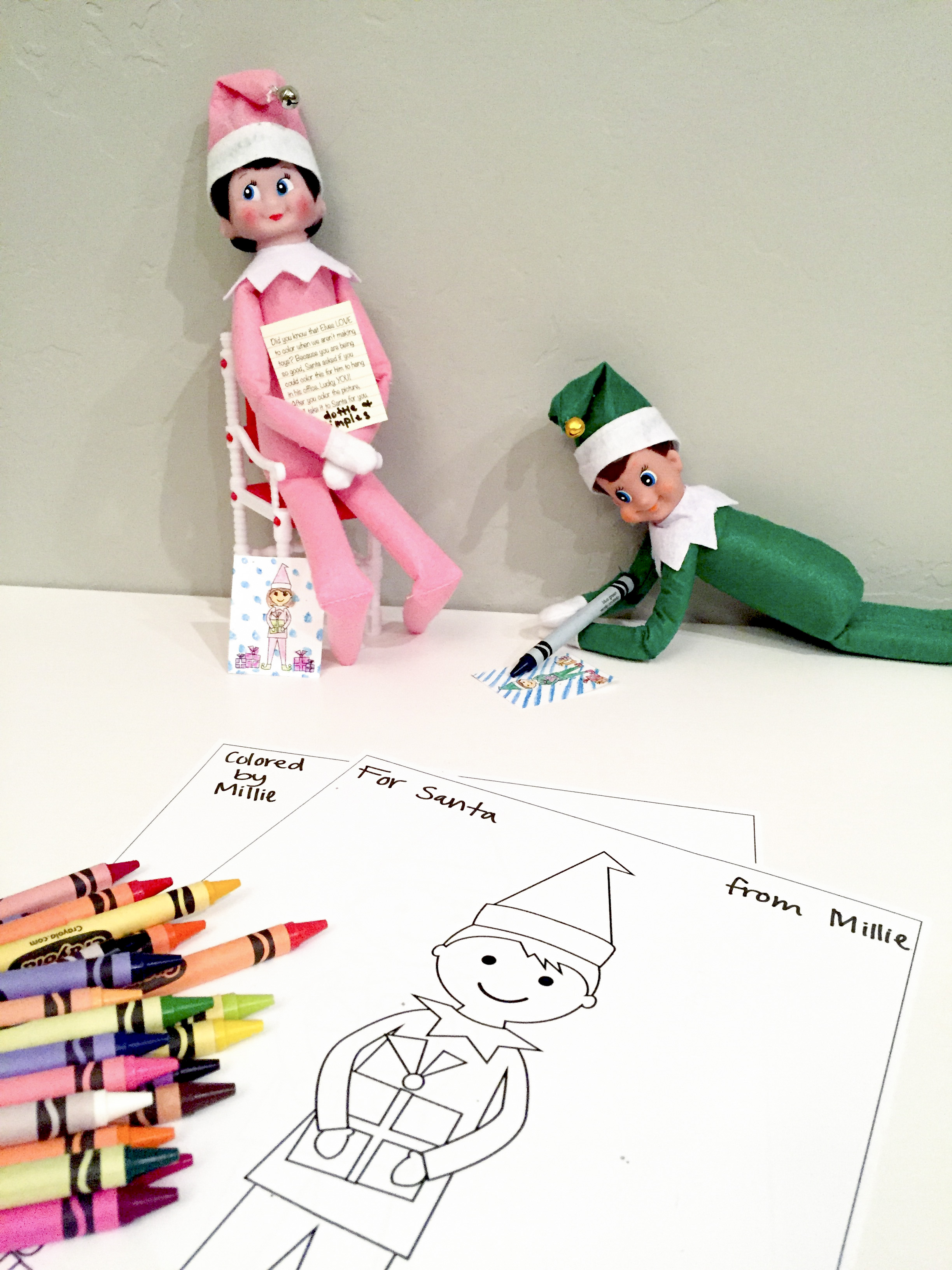 Elves on the Shelf coloring page | Free Printable Coloring Pages | 3264x2448