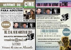 Campamento de cine para jovenes y adultos en Alicante