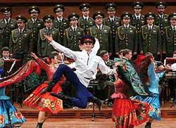 Ejército Ruso. Coro, ballet y orquesta en el ADDA