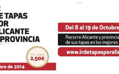 III Edición Ir de Tapas por Alicante y Provincia. Del 8 al 19 de Octubre