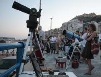 TELESCOPIOS PARA APRECIAR CON DETALLE EL ECLIPSE TOTAL DE LUNA DESDE EL CASTILLO