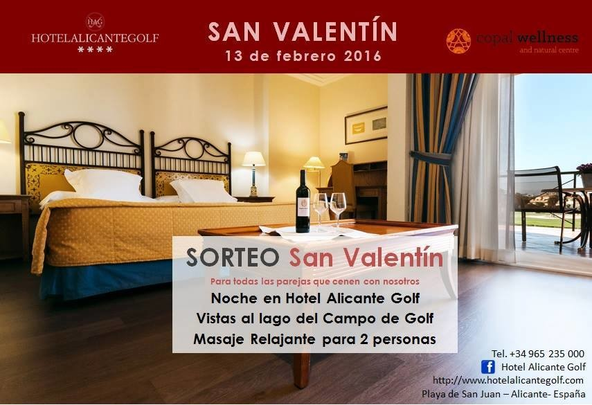 Hotel Alicante Golf. Oferta de San Valentín