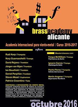 Abiertas las inscripciones Curso 2016-17 y V Summer Brass Festival Alicante 2016